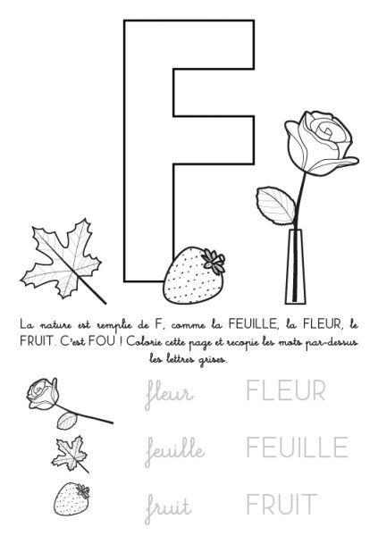 Coloriage A Imprimer Alphabet Lettre F Lettres De L Alphabet Imprimables Lettres Alphabet Lettre F