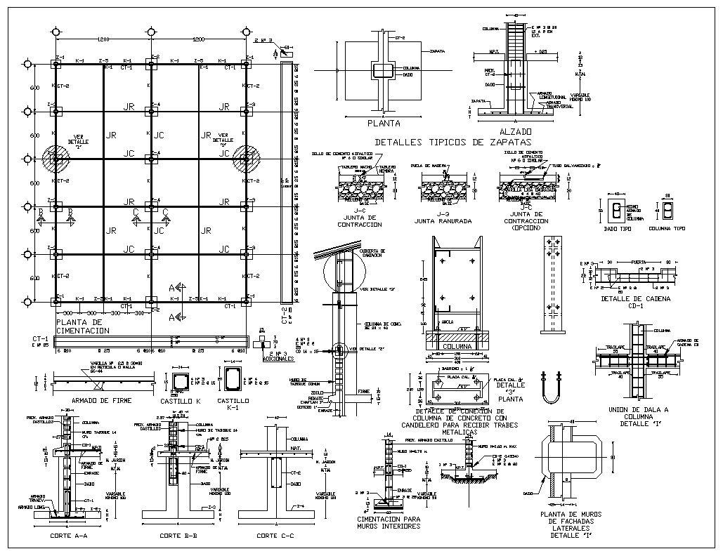 Foundation Details Concrete Details Beam Floor Design
