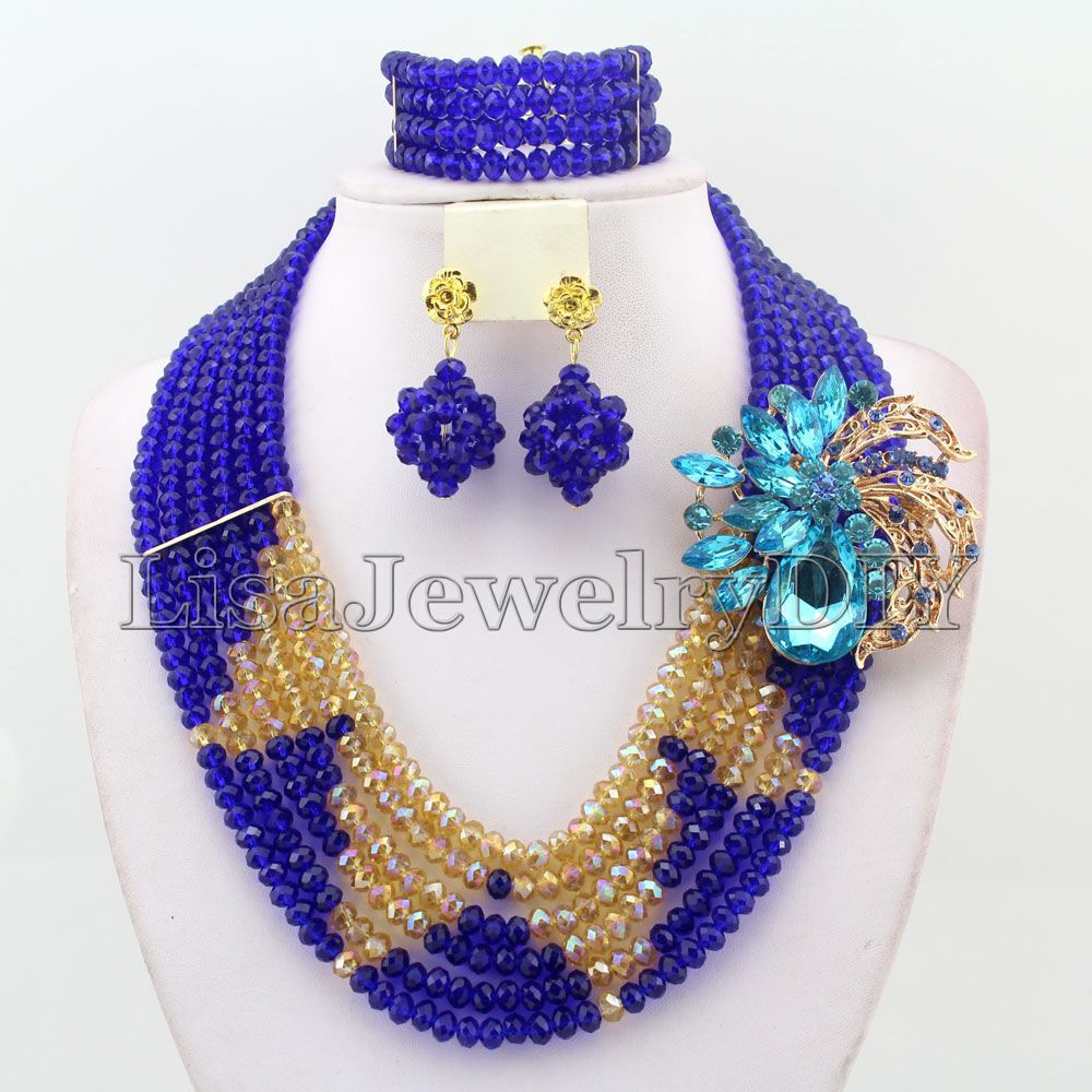 African Crystal Beads Jewelry Sets African Wedding Beads Jewelry ...