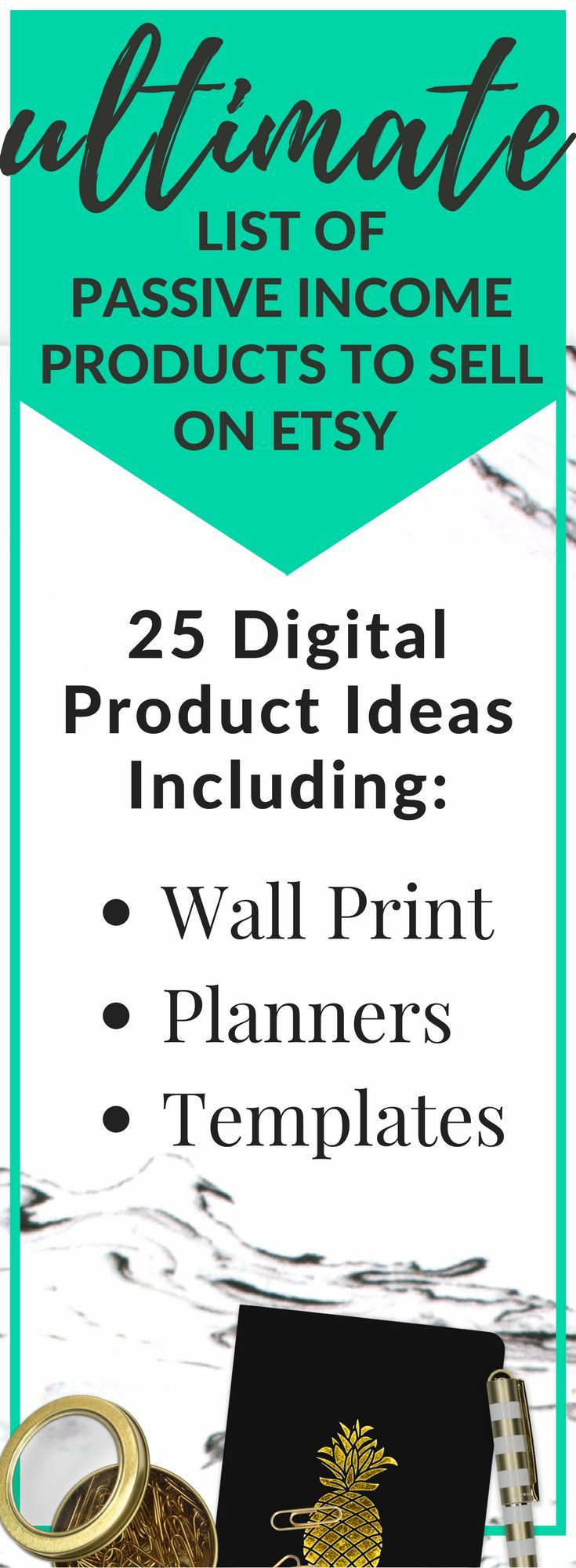 25 Passive Income Products To Sell On Etsy #craftstosell