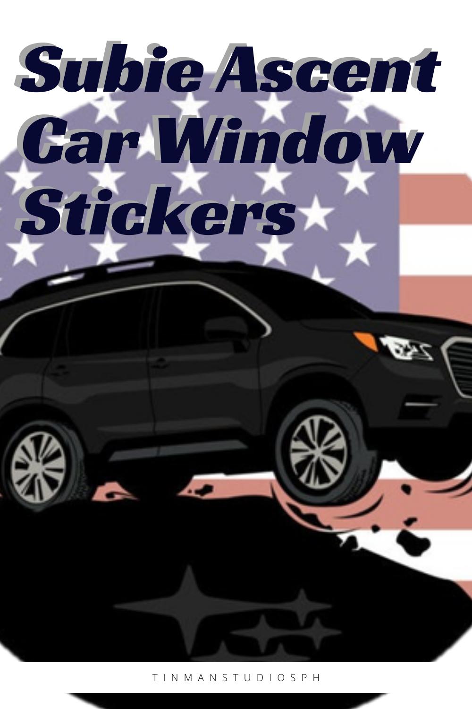 Subie Ascent Car Window Bumper Sticker Crystal Black Silica Car Accessories Bubble Free Decals Free Cars Bmw Vintage Car Window Stickers [ 1500 x 1000 Pixel ]