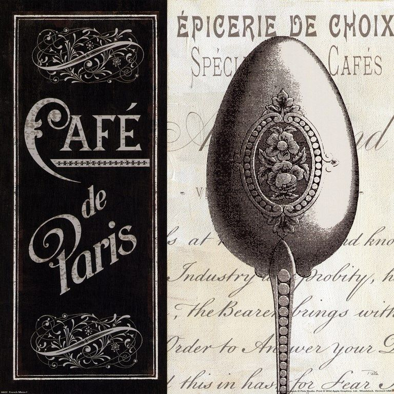 Pela French Menu I