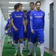 Monterrey 1-3 Chelsea   YOKOHAMA, JAPAN - DECEMBER 13: David Luiz and Fernando Torres of Chelsea walk to the pitch for the the FIFA Club World Cup Semi Final match between CF Monterrey and Chelsea at International Stadium Yokohama on December 13, 2012 in Yokohama, Japan. (Photo by Mike Hewitt - FIFA/FIFA via Getty Images)