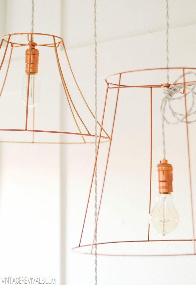 Top Five Copper Diys Wire Pendant Light Lampshades Diy