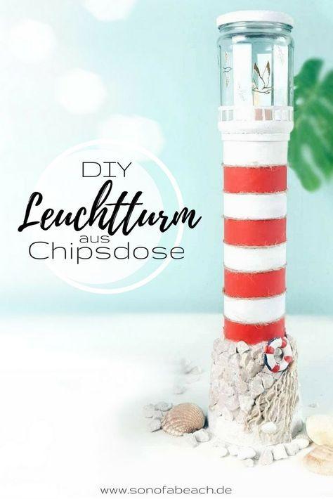 Leuchtturm aus Chipsdose basteln - maritime Bastelidee -   19 diy basteln liebe ideas