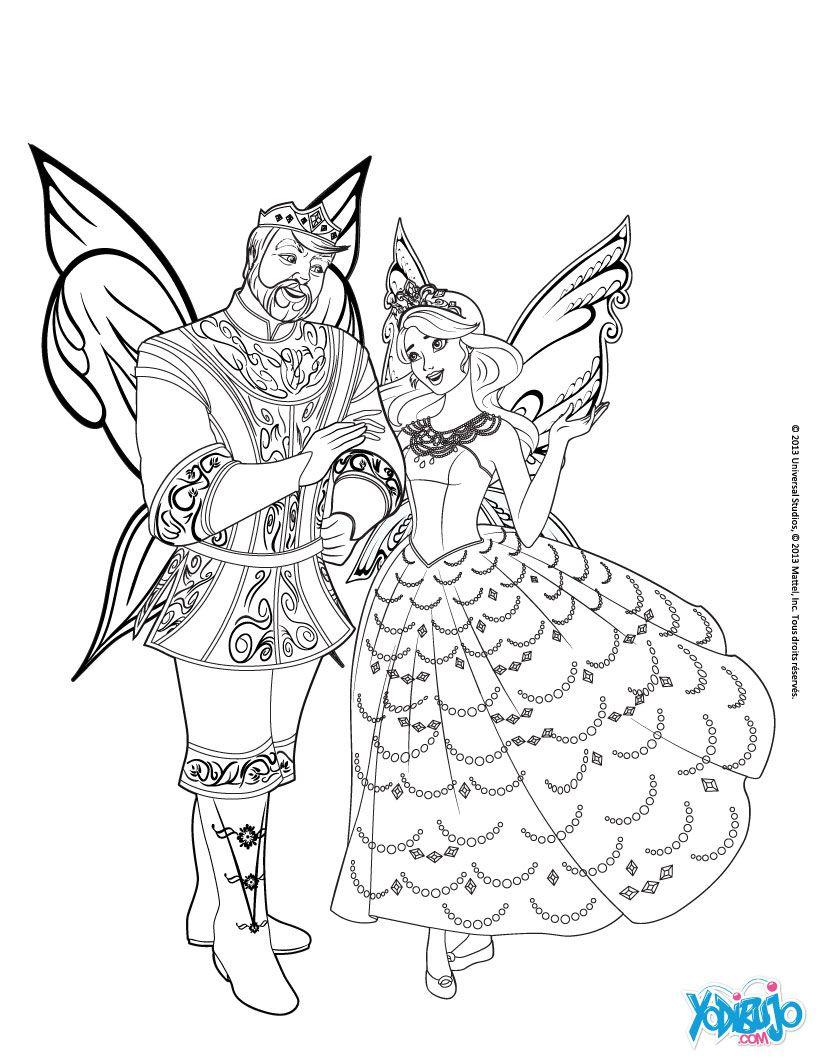 Dibujos para colorear la princesa catania y el rey ...   Para ...