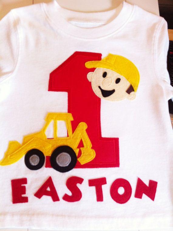 Bob The Builder Shirt Construction Birthday Truck Theme