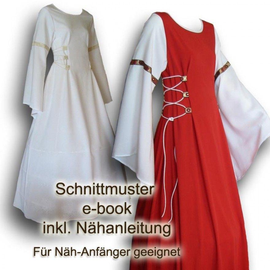 Schnittmuster Mittelalterkleid e-book 34-52 | Mittelalterkleid ...