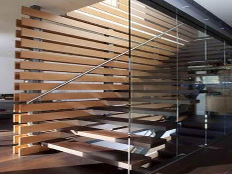 Partition Wall With Wood Slat Walls Salon Pinterest Wood Slat Wall Sla