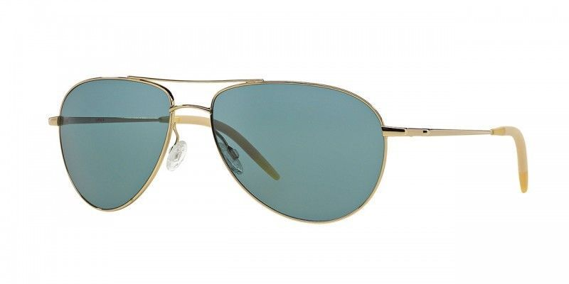 OLIVER PEOPLES Benedict OV 1002S 524252 VFX Polarized Aviator Sunglasses Gold