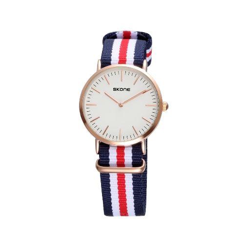 SKONE 2016 Brand Luxury Quartz Men Women Casual Wristwatch Ultra Thin Dial PU Leather Water-resistant Lover's Couple Watch