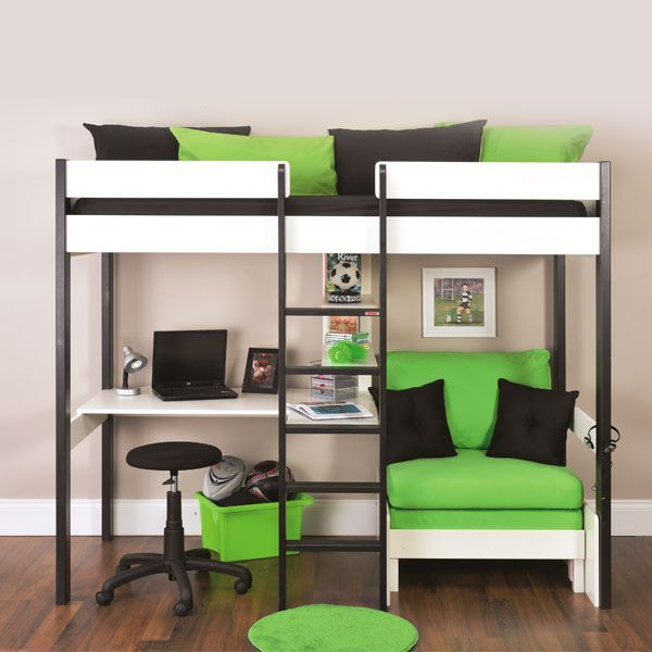 Bunk Beds Stompa Uno Wooden High Sleeper With Futon Chair Click 4