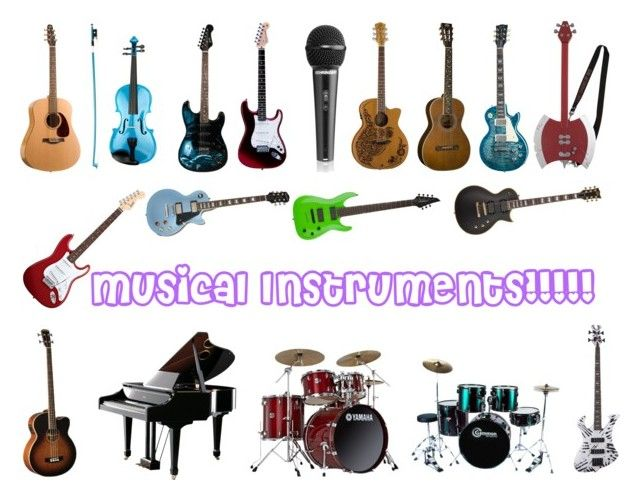 """""""Musical Instruments!!!"""" by kikilee01 ❤ liked on Polyvore featuring art"""