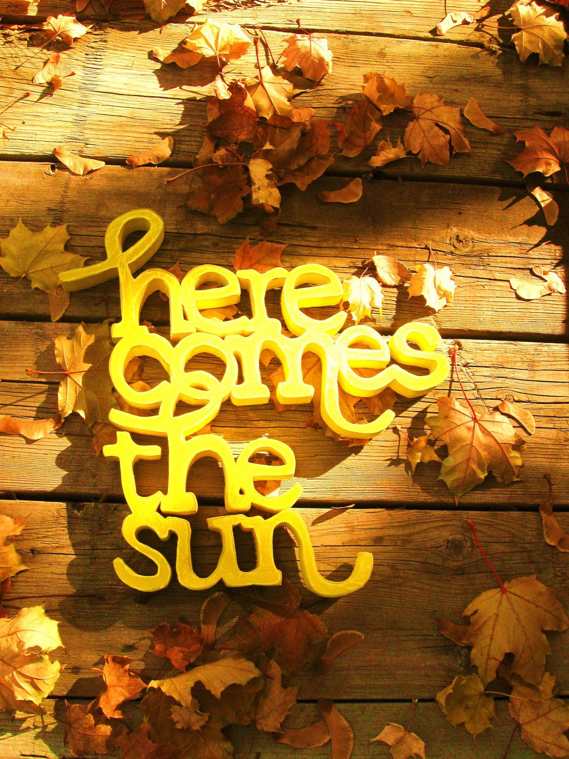 The Beatles, Here comes the sun. Wood wall art. $50.00, via Etsy ...