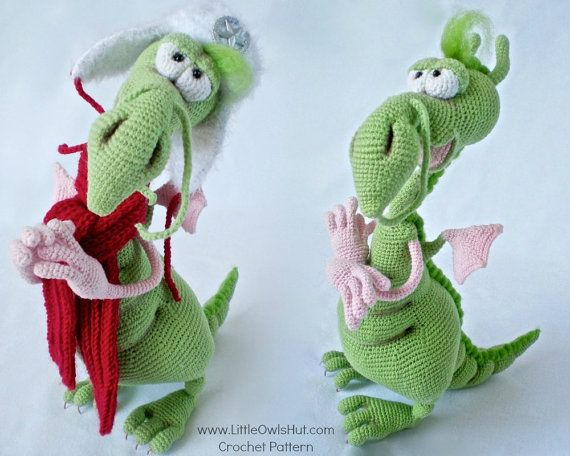 026 Dragon toy with wire frame - Amigurumi Crochet Pattern - PDF ...