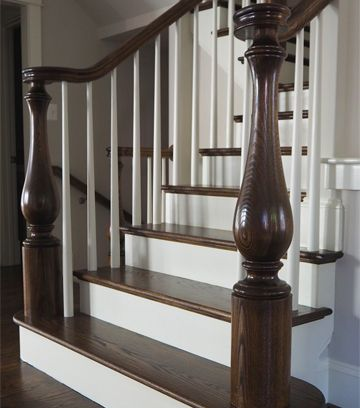 Best High Quality Wood Stair Parts Thick Stair Treads Large 400 x 300