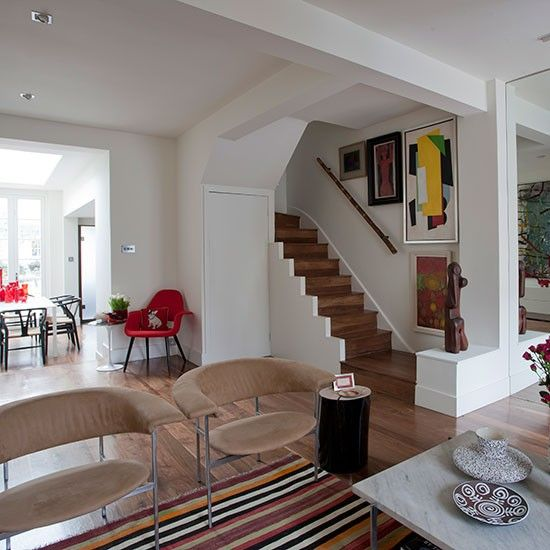 Take A Tour Around This Small Artisan Cottage In London Ideal Home Open Plan Living Room Small House Plans New House Plans