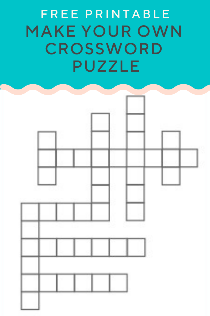 It is an image of Persnickety Make Your Own Crossword Puzzle Printable