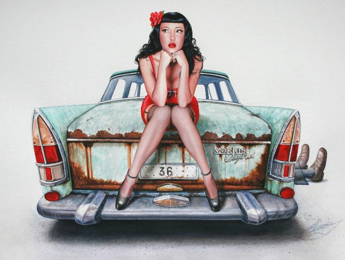 Christiane Vleugels (Raipun on DeviantArt) | ACRYLIC | The Mechanic's Girlfriend