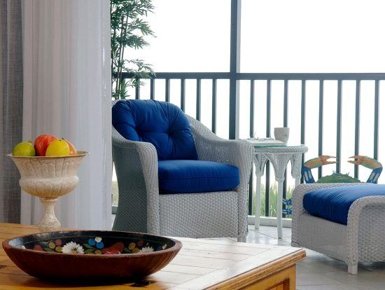 Serene Sanibel Cottage Style Home in Blue & Yellow with some Pink
