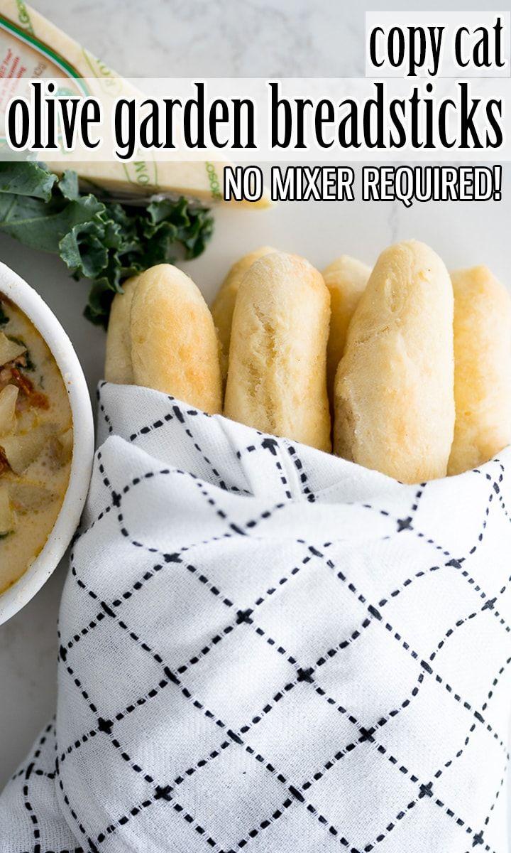 Homemade Olive Garden Breadsticks are fluffy on the inside