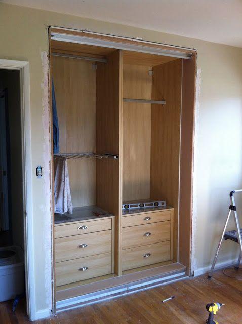 Retrofitting a PAX into a closet | Closets | Ikea closet