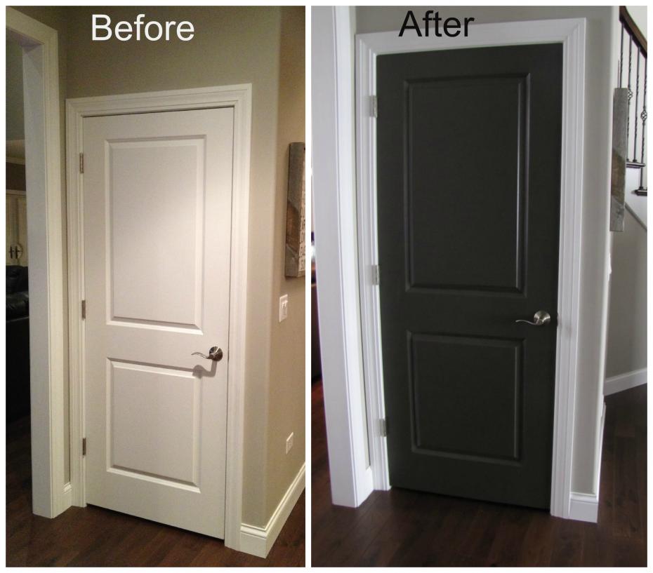 Black Doors Design Black Interior Doors With White Trim In
