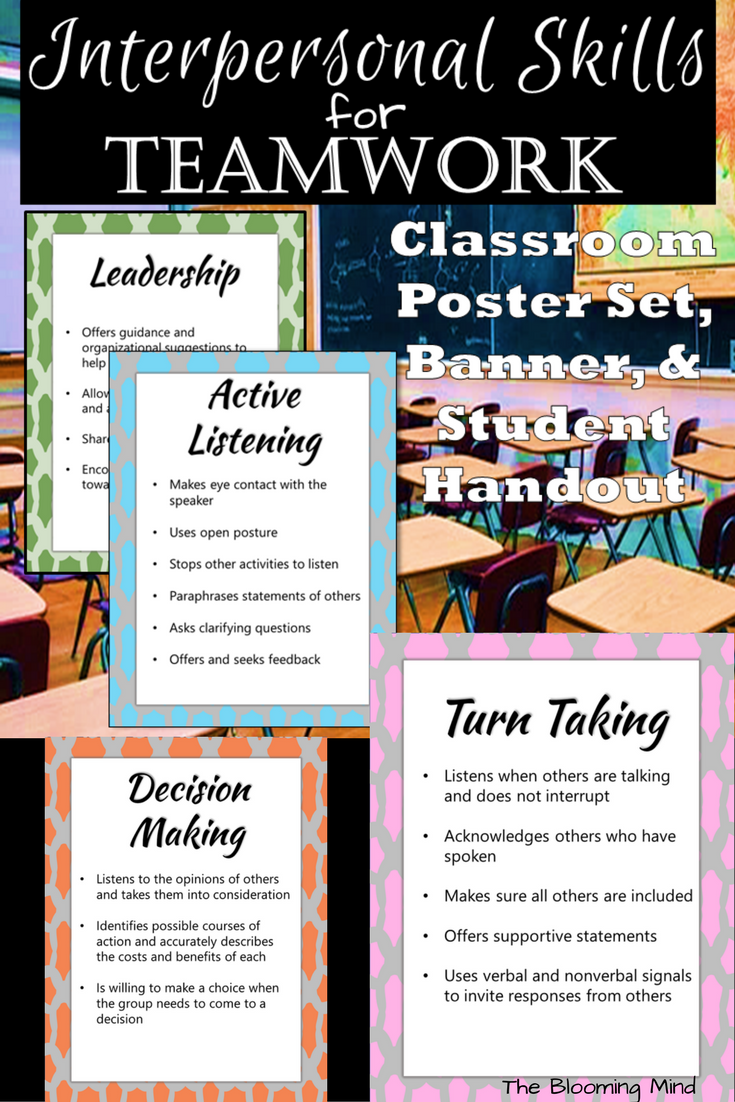 Are You Presenting To Your Staff Or Teaching Your Class About Teamwork Use These Six 8 5 X 11 Posters For Eac Teamwork Interpersonal Skills Effective Teamwork