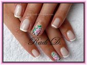 Photo of Piano french and roses  Nail Art Gallery by NAILS Magazine