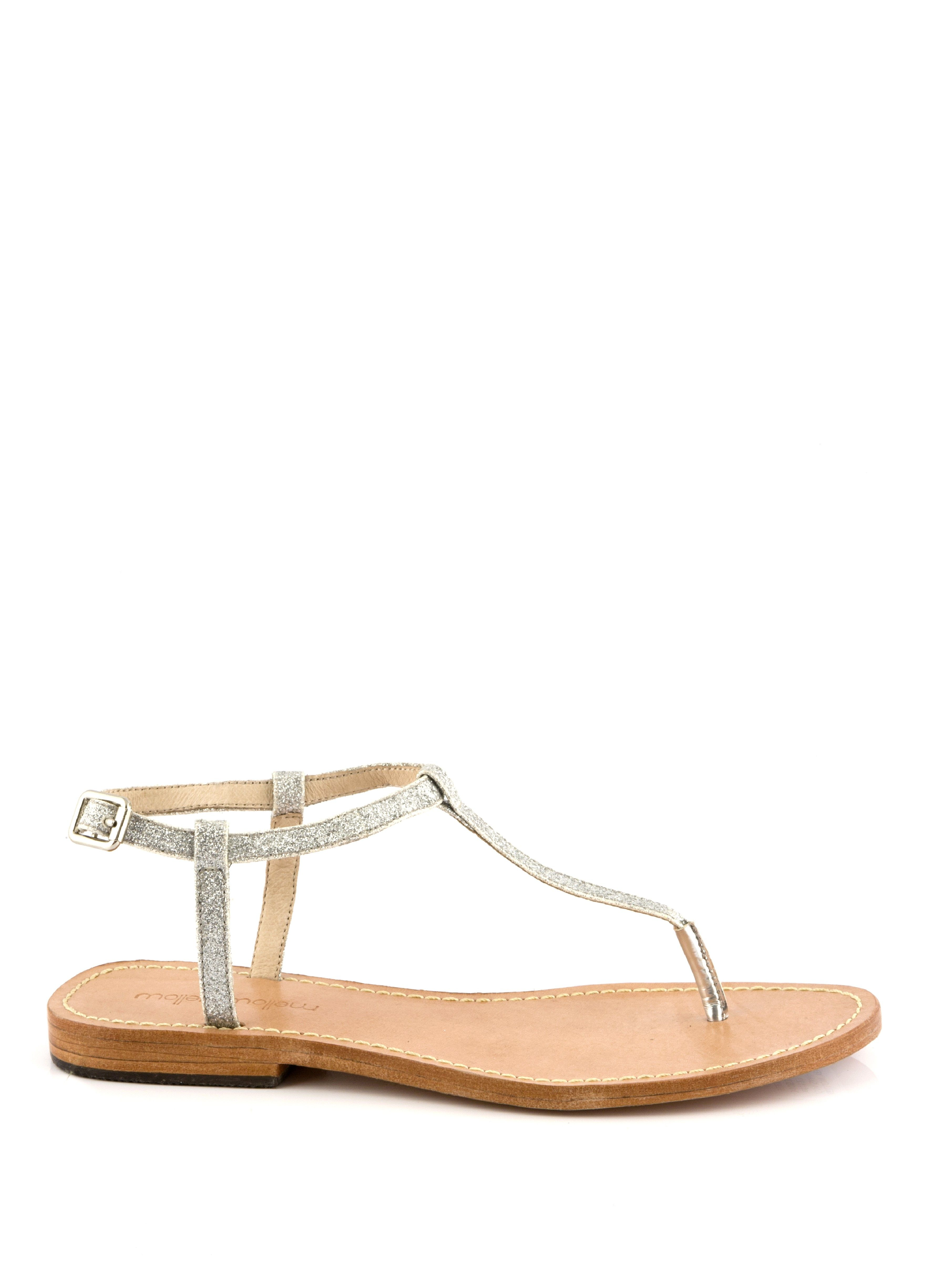 sandale plate pabling argent - sandales plates - chaussures femme