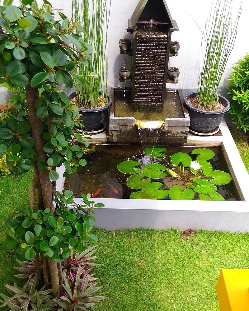 17 Lovely Outdoor Garden Design Ideas 2018: Kolam Ikan Mini Untuk Ikan Hias Koi Nila