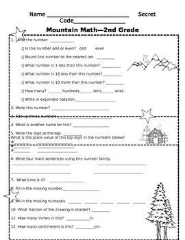 Mountain Math Daily Review Sheet Mountain Math Math Math Charts