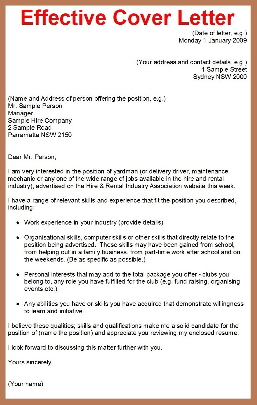 23 Writing A Cover Letter For Job