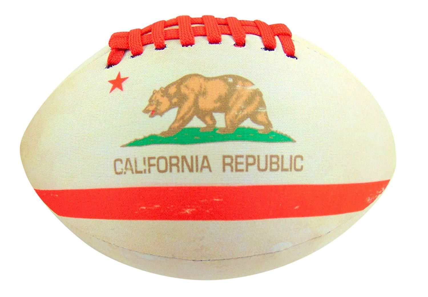 Chipboard Sheets 183163 Get A Gadget California Flag Football Soft Neoprene Ball For Kids 8 Inches Long Buy I California Flag Flag Football Christmas Bulbs