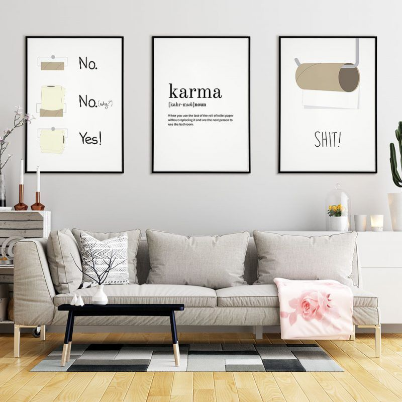 Funny Bathroom Poster Humor Art Posters And Prints Scandinavian Home Decor Nordic Wall Pictures For Living Room Modern Unframe Living Room Pictures Living Room Modern Home Decor Wall Art