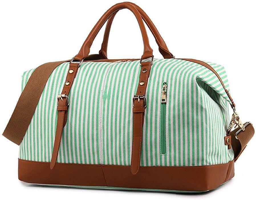 8c65cb03f3fb Amazon.com | CAMTOP Weekend Travel Bag Ladies Women Duffle Tote Bags ...