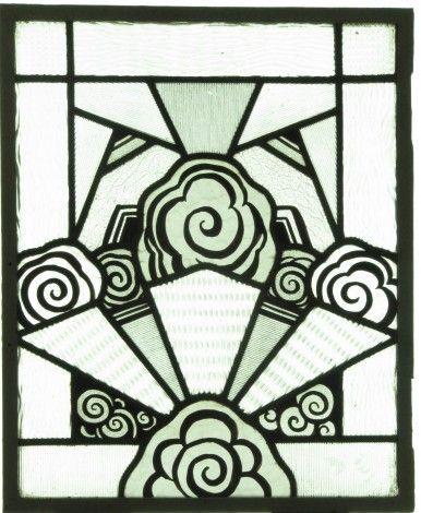 art d co vitraux anciens 1850 1950 sujets non peints vitraux art d co art nouveau. Black Bedroom Furniture Sets. Home Design Ideas