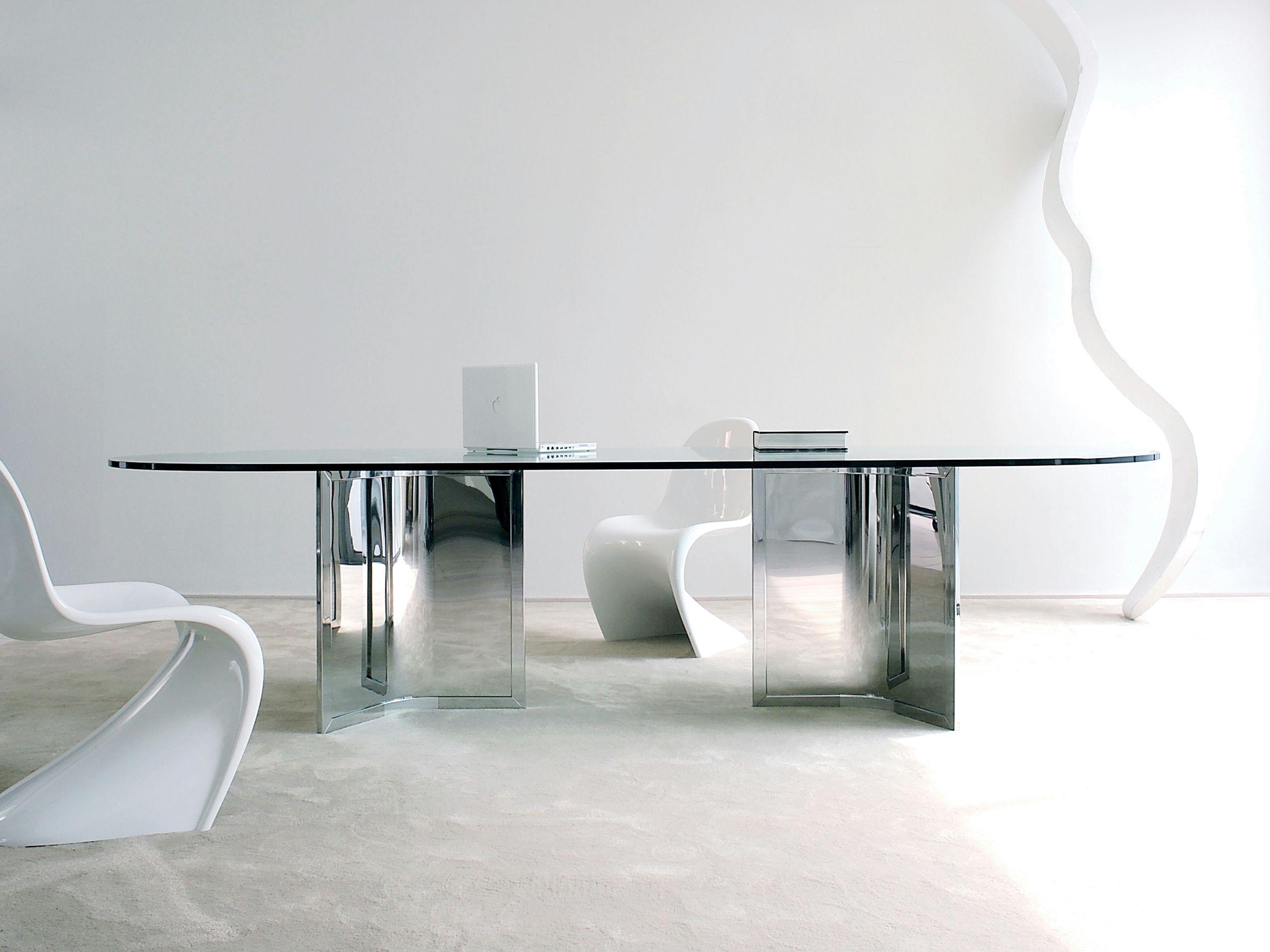 Tavolo ovale in cristallo RAJ by Gallotti&Radice design Ricardo ...