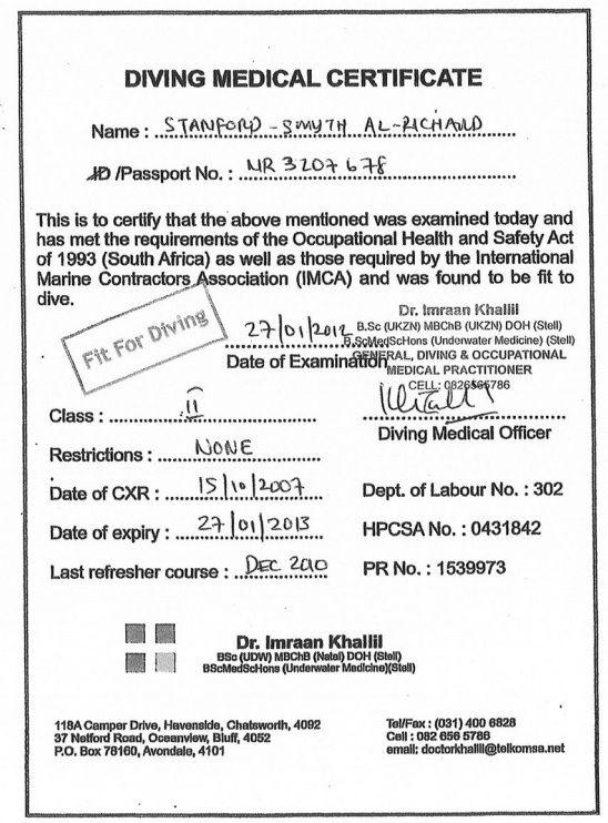 Image result for nogepa medical RIG 45 Pinterest Rigs - medical certificate form