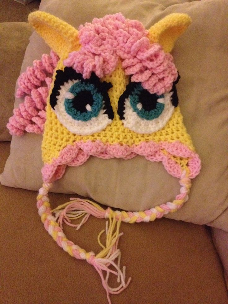 fluttershy crochet hat pattern | Fluttershy my little pony hat ...