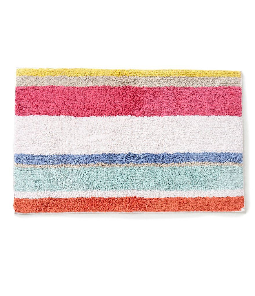 Kate Spade New York Paintball Floral Striped Bath Rug Striped Bath Rug Floral Bath Towels Bath Rug [ 1020 x 880 Pixel ]