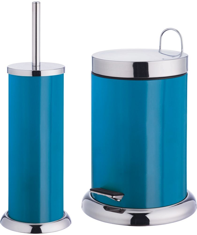 Colourmatch Bathroom Bin And Toilet Brush Set Lagoon At Argos Co Uk