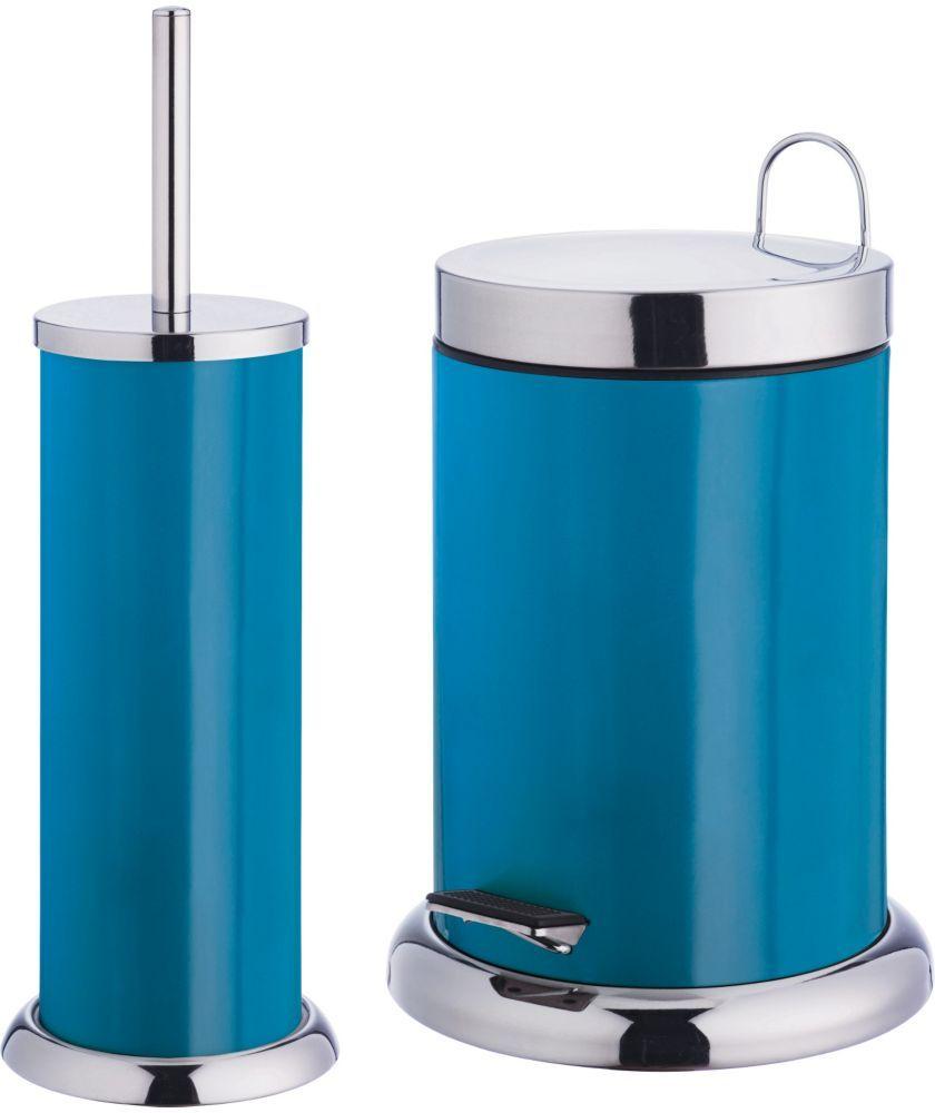 Buy ColourMatch Bathroom Bin and Toilet Brush Set - Lagoon at Argos ...