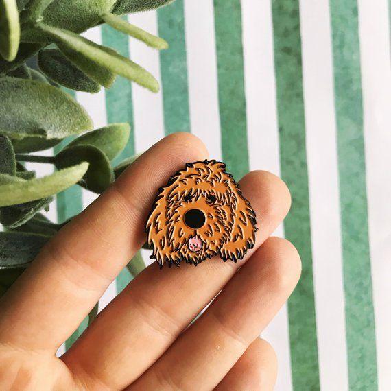 Apricot Doodle Dog Soft Enamel Lapel Pin