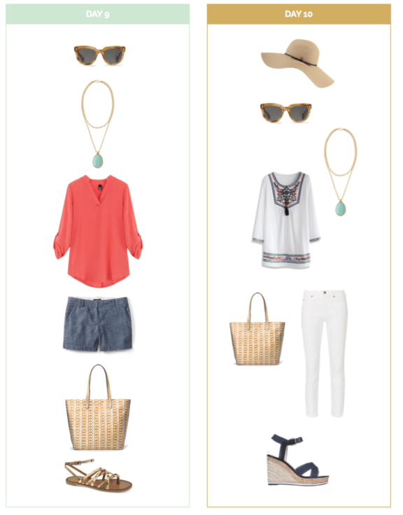 Ten Day Summer Vacation Packing List and Outfits #summervacationstyle
