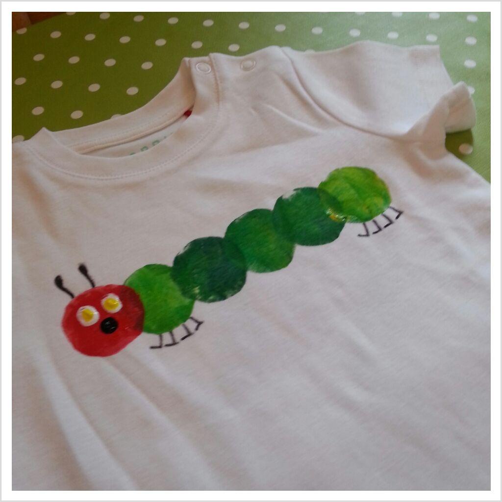 Diy raupe nimmersatt shirt arts and crafts pinterest - Raupe basteln kindergarten ...