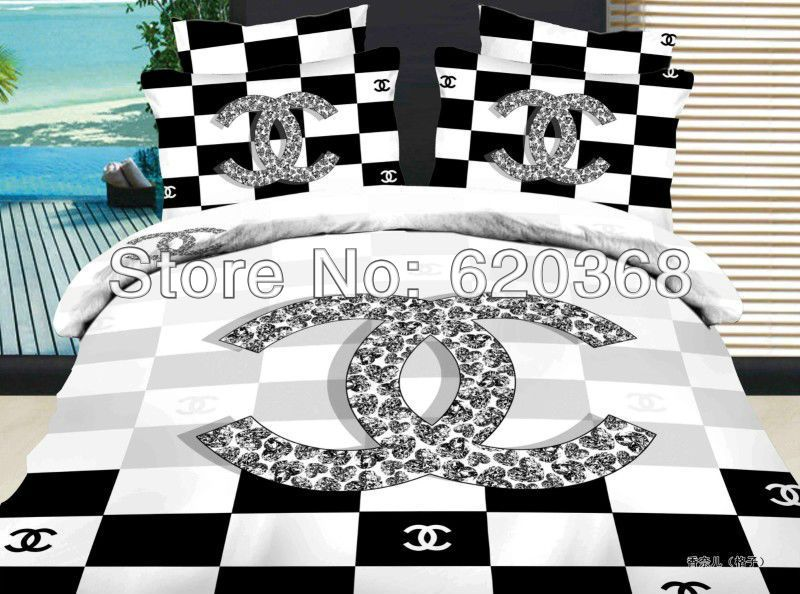 Luxury Textile Black And White Reactive Brand New Bedding Sets Queen Adults  Bed Doona Duvet Covers