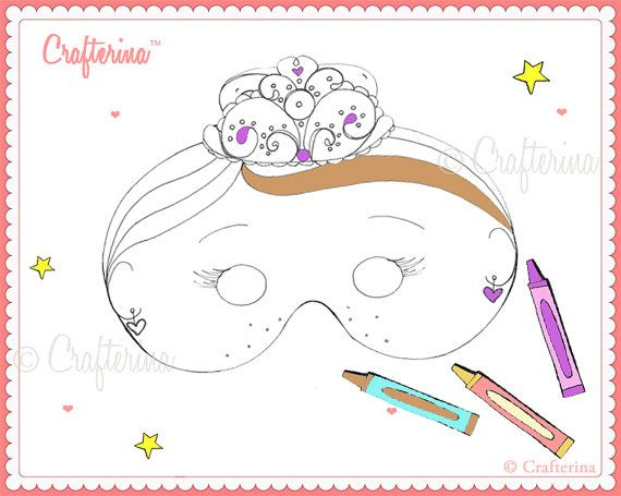Printable Color And Create Sugarplum Fairy Mask Kit By Crafterina