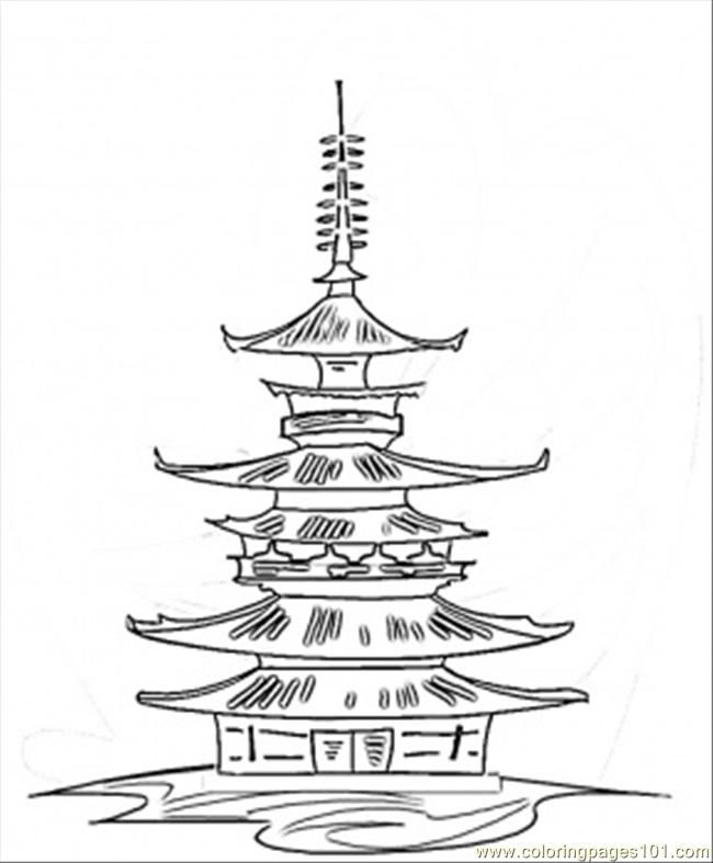 high pagoda coloring page in 2021  coloring pages free