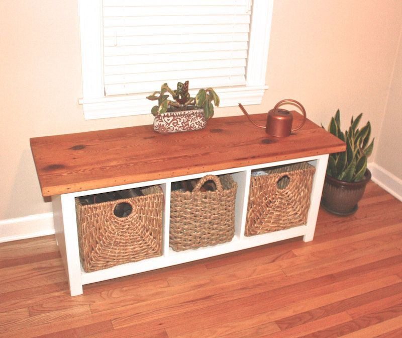 Entryway Bench With Storage Cubbies Reclaimed Wood Bench Reclaimed Wood Benches Reclaimed Wood Furniture Bench With Storage